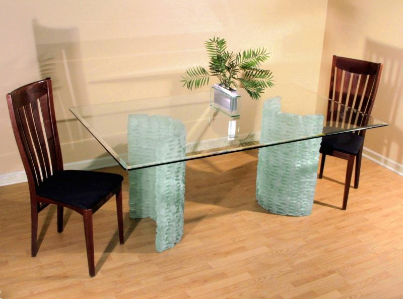 Looking glass company table tops for Large glass table top