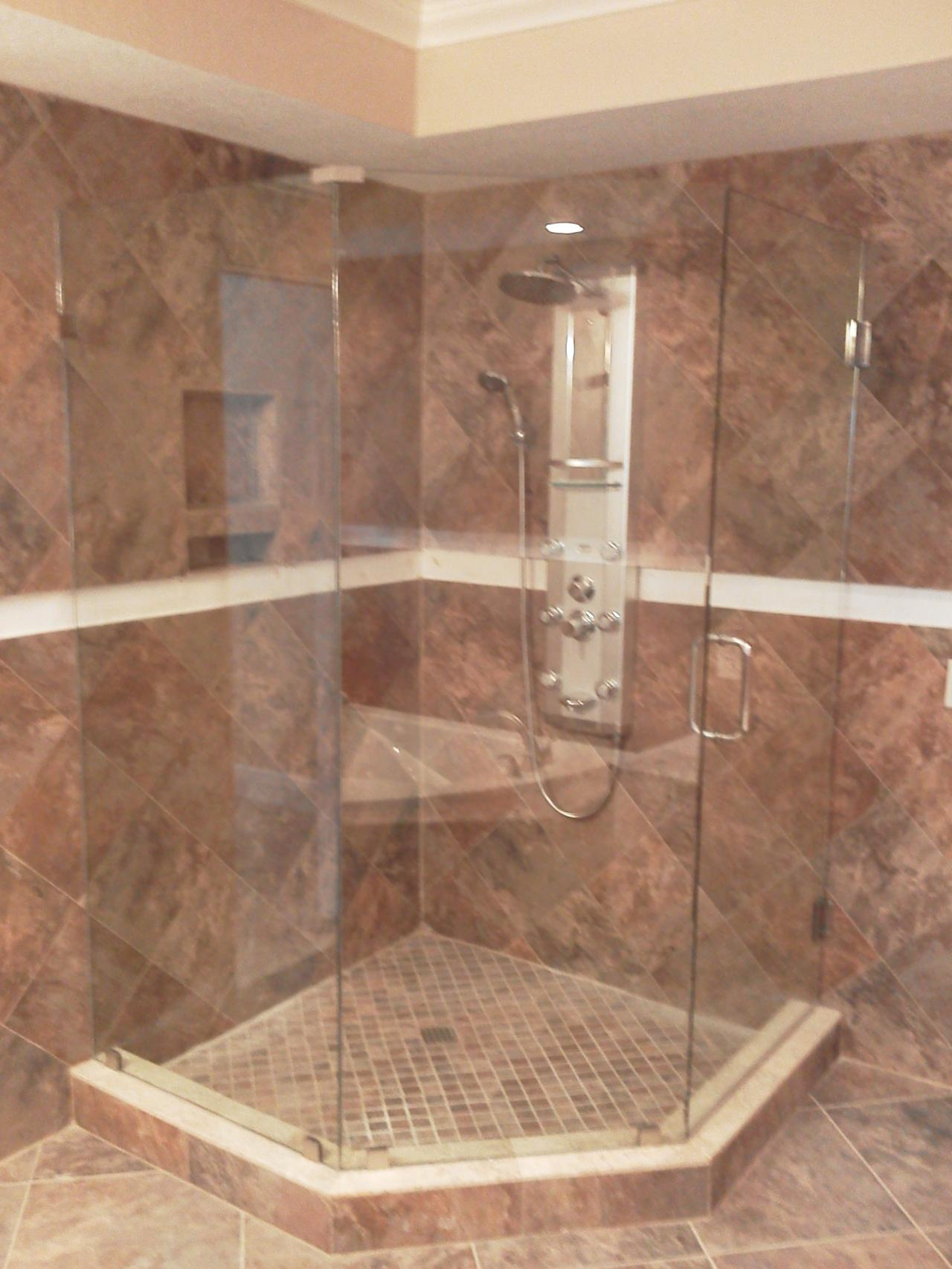 ... Frameless Shower Enclosure ...